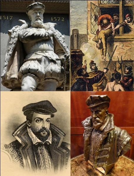 Renaissance : Amiral du roi de France, il sera assassiné par des sbires ce roi. On peut dire qu'il sera la première victime d'un massacre qui fera environ 3 000 victimes… au nom d'une religion !Qui est cet homme ?