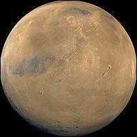 Quelle est la vitesse de rotation de Mars sur l'équateur, en km/h ?