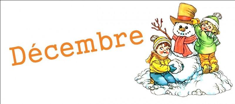 À quel chiffre correspond le mois de décembre ?