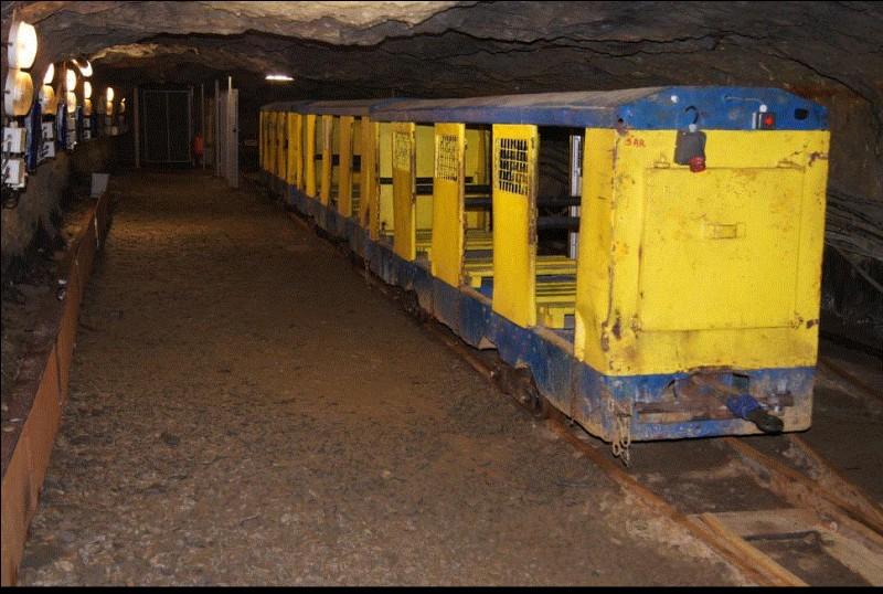 Haut-lieu touristique du Maine-et-Loire. La Mine Bleue et son funiculaire vous mènent à 130 mètres sous terre. Quel était le rôle de la Mine Bleue jusqu'en 1930 ?
