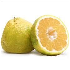 Et ce fruit ressemblant à un citron est l'...