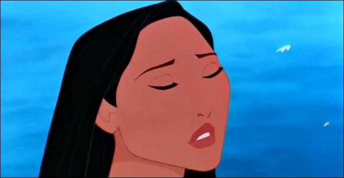 Que se passe-t-il à ce moment-là dans le tête de Pocahontas ? (Elle est en face de John Smith.)