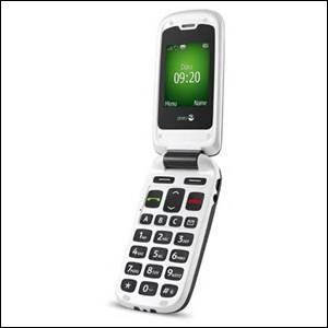 UN TELEPHONE PORTABLE - Bon, c'est avec ce téléphone qu'elle a dû appeler le couturier...à moins qu'elle lui ait envoyé un SMS, qui se traduit par :