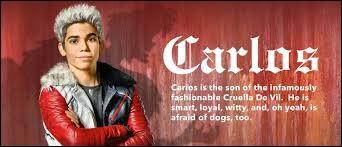 Au début, de quel animal Carlos avait-il peur ?