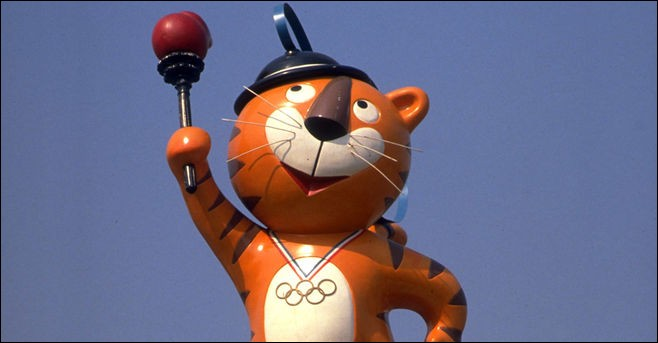 De quels jeux olympiques ce tigre est-il la mascotte ?