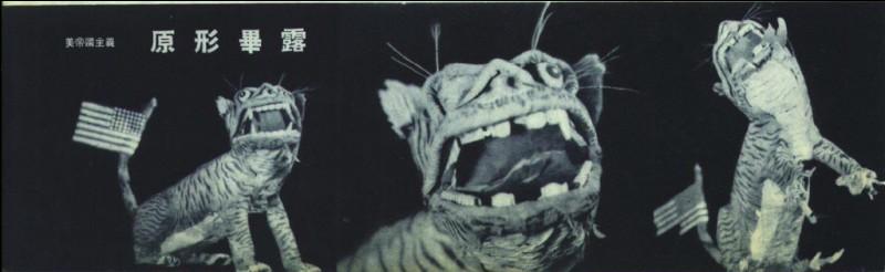 Par quel président l'expression « Tigre de papier » a-t-elle été employée pour qualifier Tchang Kaï-Chek et les États-Unis ?
