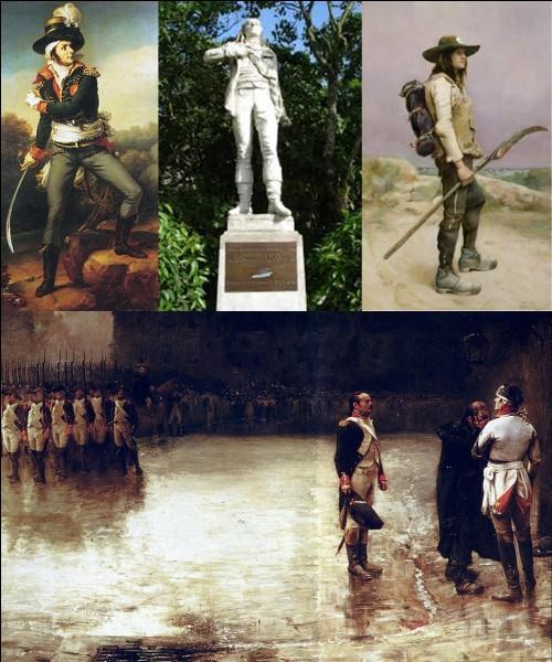 Révolution française : Ce personnage est un général combattant la République et la Convention. Il fut surnommé « Le Roi de la Vendée », Napoléon Ier écrira de lui : « Il laisse percer du génie ».Qui est cette personne ?