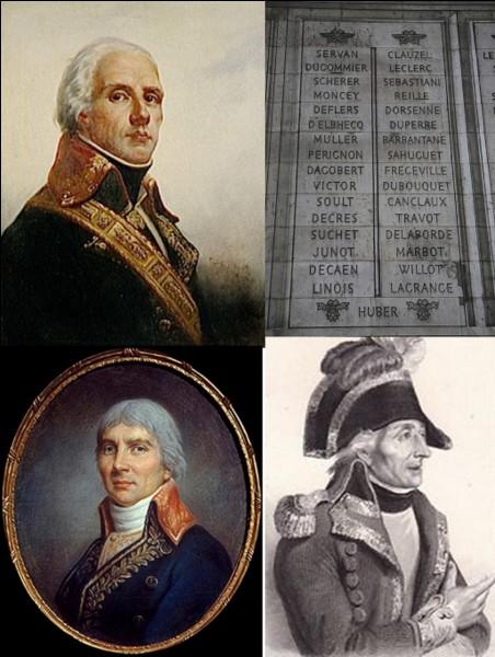 Révolution française : Son nom apparaît sur le pilier « Ouest » et la 33e colonne de l'Arc de triomphe. Il s'illustrera dans les combats aux Antilles avant de combattre victorieusement dans les Pyrénées-Orientales. Il sera celui qui « découvrira » Napoléon Bonaparte pendant le siège de Toulon.Qui est ce soldat ?