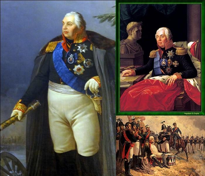 1e Empire : Ce soldat mit fin à l'attaque de Napoléon 1e. On peut dire qu'il a participé à la 1e chute de l'Empereur. Il est connu pour une politique concernant la destruction volontaire des ressources de son pays. Qui est ce militaire ?