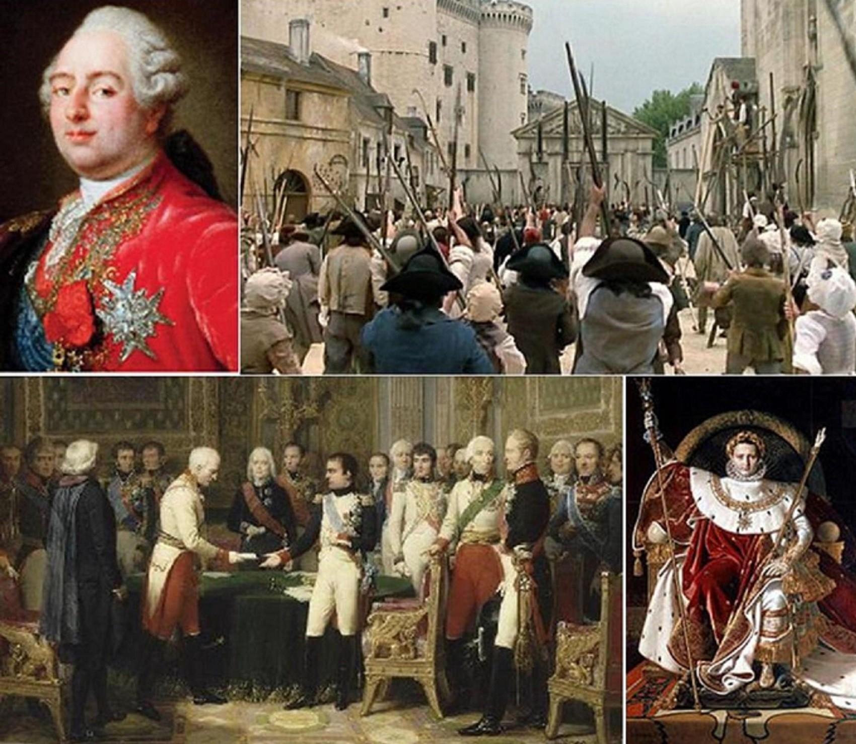 Quelques « chefs » militaires de différentes époques de l'histoire – de la Révolution à la fin du se