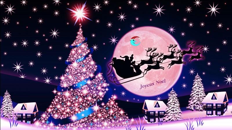 """C'est la belle nuit de Noël. Tu vas te coucher sans oublier de dire """"Avant de partir / Il faudra bien te couvrir / Dehors tu vas avoir si froid / C'est un peu à cause de moi"""". À qui adresses-tu cette chanson ? Coche le bon titre."""