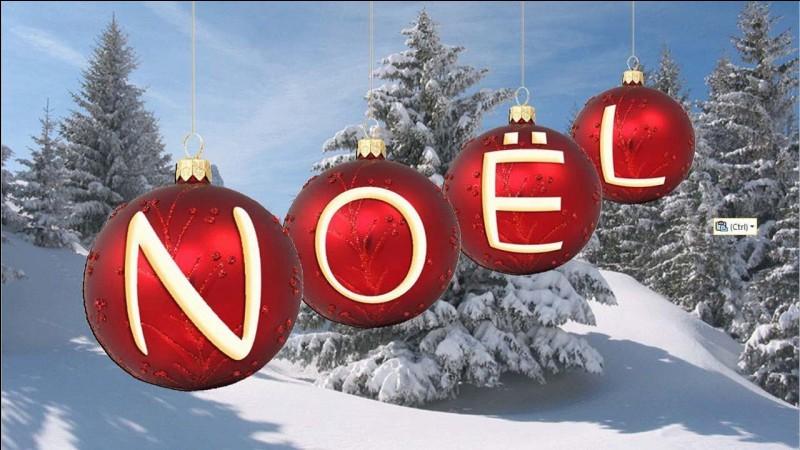 """Que vois-tu sur le """"E"""" de Noël ?"""