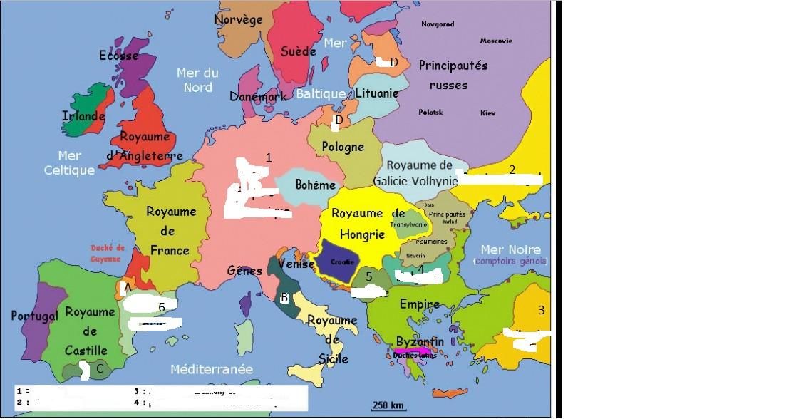Carte du Moyen Âge