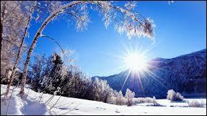 """Si je te dis """"hiver"""", tu me dis :"""