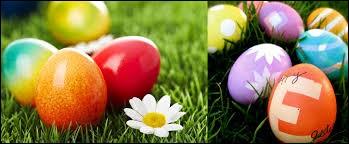 J'aime aussi Pâques avec les __ qu'on reçoit.