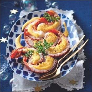 Un riesling blanc accompagnera les amateurs de ce crustacé nappé d'un sabayon.