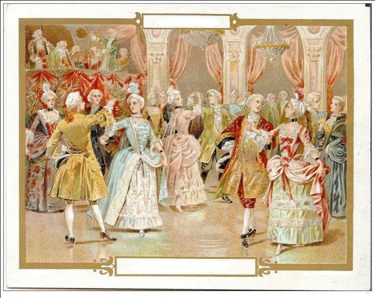 """M - Le """"menuet"""", une des danses préférées de Louis XIV, est une danse à quatre temps."""