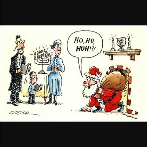 Un Père Noël juif entre dans la chambre d'un enfant. Que lui dit-il ?