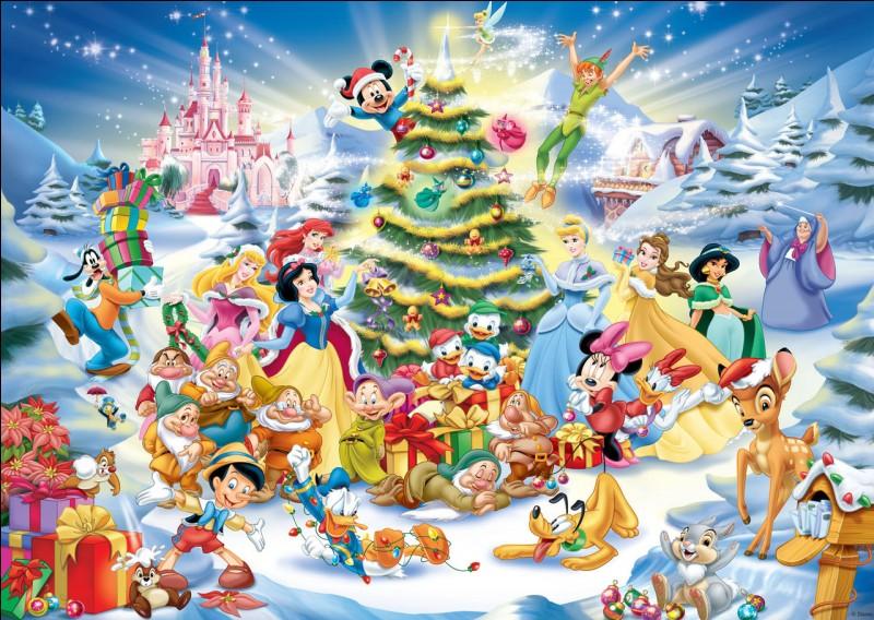 Quelle princesse n'est pas présente à cette fête de Noël ?