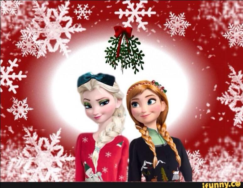 Elles sont plus que prêtes pour les fêtes de Noël, il s'agit bien sûr d'Elsa et de sa jeune sœur...