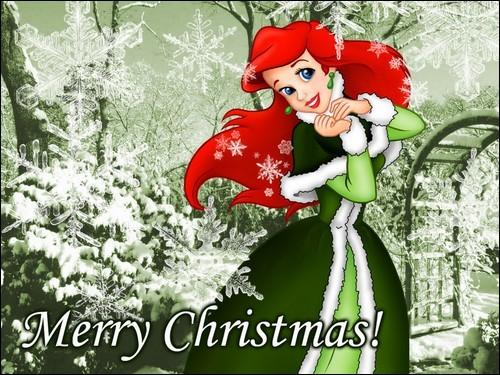 Quelle est cette princesse qui vous souhaite ici un joyeux Noël ?