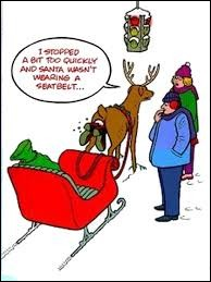 Savez-vous pourquoi le père Noël rit tout le temps ?