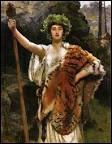 Lors des marches joyeuses de Dionysos et de son cortège, qui portait le flambeau ?