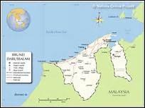 Avec combien de pays Brunei a-t-il une frontière commune ?