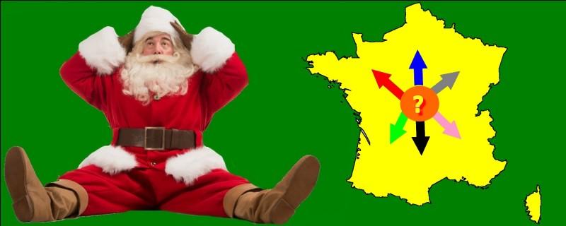 Je dois apporter un cadeau à Dunkerque. Quelle est la couleur de la bonne flèche ?