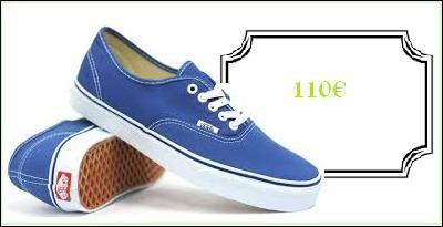 Cette paire de chaussures de la marque Vans : 110.00 €