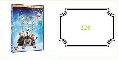 """Un DVD """"La Reine des neiges"""" : 22.00 €"""