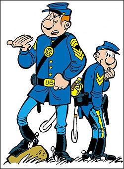 Par qui a été créé la bande dessinée « Les tuniques bleues » ?