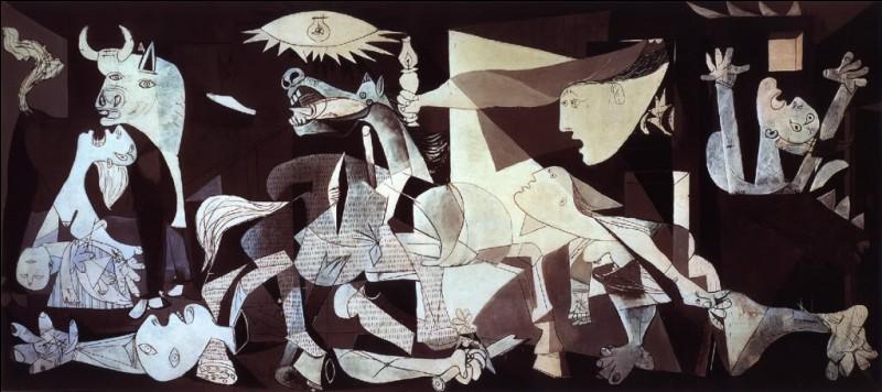 Dans les années folles, Le café de Flore à Paris était très en vogue. On y rencontrait Reggiani, Georges Bataille, Raymond Queneau, mais aussi de grands peintres tels que celui dont je vous expose la célèbre toile représentant le bombardement d'une ville rendue célèbre par cette toile, durant la guerre d'Espagne en 1937 :
