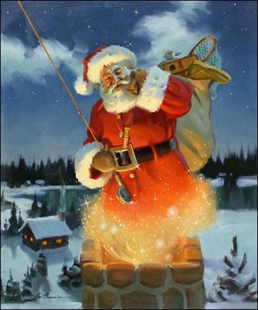 Il se pose sur le toit avec son _____ et se glisse dans la cheminée.