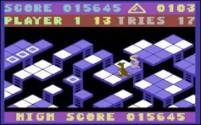 Le joueur contrôle alternativement un kangourou pourchassé par un gardien de zoo et un singe par un filet. Le joueur se déplace sur des plates-formes reliées entre elles par des échelles. Quel est ce jeu ?