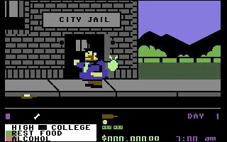 Un clochard qui tente de sortir de sa misère, ramasse des bouteilles dans la rue, tente d'éviter les policiers et bandits, va chez le coiffeur, et tente de trouver un job. Quel est ce jeu original ?