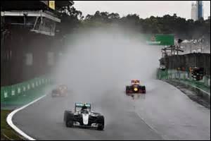 Quel pilote a démontré son talent sous la pluie lors du Grand Prix du Brésil avec 15 dépassements en course ?