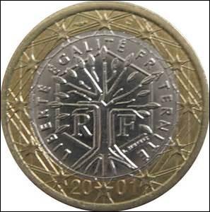 Quelle représentation figure à l'avers des pièces de 1 euro et de 2 euros émises en France ?