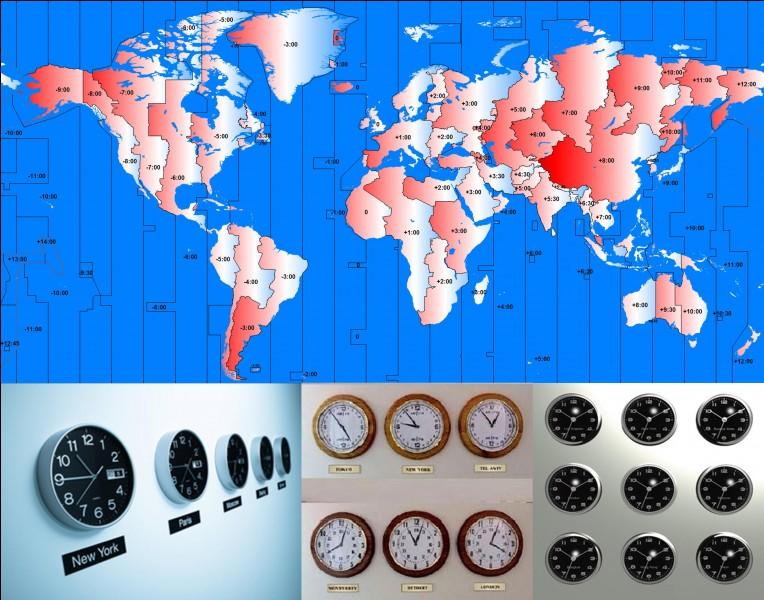 Parlons des fuseaux horaires !Un fuseau horaire est une zone de la surface de la Terre observant une heure uniforme en tous lieux. Sur terre, ils ont tendance à suivre les frontières des pays. Généralement, ils diffèrent du « temps universel » d'un nombre d'heures entier, mais quelques-uns sont décalés de 30 ou 45 minutes.Combien de fuseaux horaires couvrent l'ensemble du territoire français ?