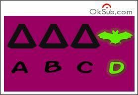 Dans le groupe suivant, peux-tu dire quel symbole ne va pas avec les autres ?