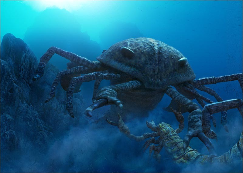 Artropleura n'a pourtant pas été le plus grand invertébré de tous les temps. Jaekelopterus, le plus grand scorpion de mer, atteignait une longueur de 3m30.Il a vécu...