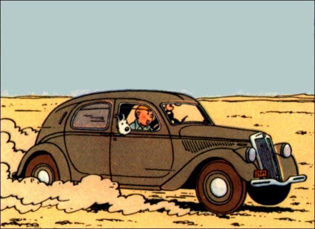 Tintin et Haddock ont emprunté une Lancia Aprilia : dans quel album est-ce ?