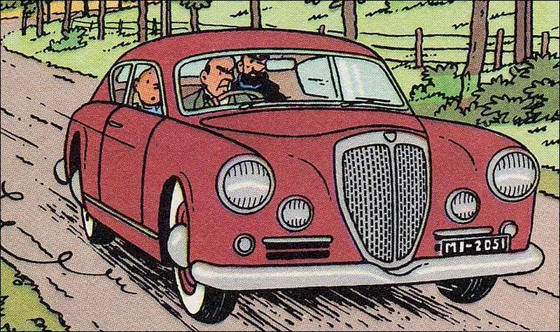 Dans quel album Tintin et Haddock sont-ils à bord de cette Lancia Aurelia ?