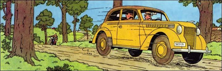 Les agresseurs de Tintin s'enfuient dans une Opel Olympia. C'est dans :