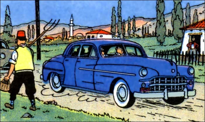 Tintin et Haddock sont dans cette grosse Dodge dans :