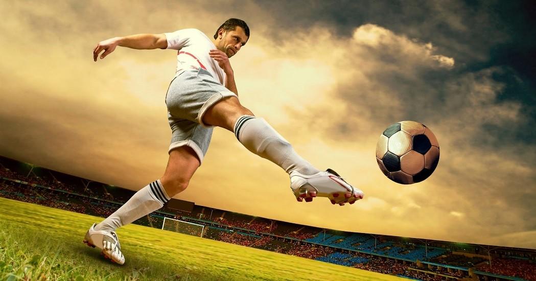 Les joueurs de football