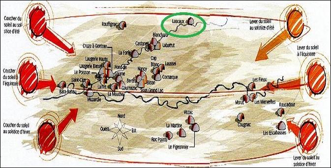 Observez l'illustration et déterminez la localisation de cette grotte dont on dit que ses peintures sont des cartes du ciel.