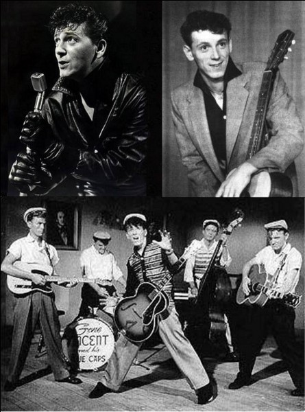 En hommage à Eddie Cochran, mort dans un accident de voiture (17 avril 1960) dans lequel il fut grièvement blessé, ce chanteur portera un gant de cuir noir à la main gauche. On le connaît, entre autres, pour une chanson qu'il interpréta avec son groupe « His Blue Caps ».