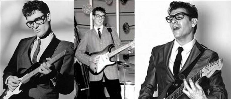 Encore un jeune qui est mort jeune. Lui, est décédé à l'âge de 22 ans dans un accident d'avion. Le jour de l'accident sera appelé « The Day the Music Died » (le jour où la musique est morte). Deux autres chanteurs célèbres trouveront la mort dans cet accident. Ce chanteur au « look premier de la classe » est le 1e utilisateur d'une guitare Fender stratocaster.Qui est ce chanteur et un de ses plus emblématiques titres ?