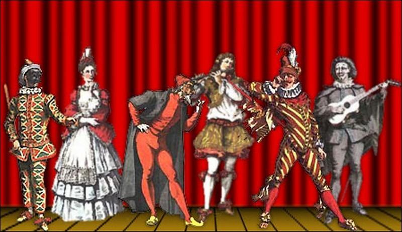 """C - Pinocchio est un des personnages de la """"commedia dell' arte""""."""